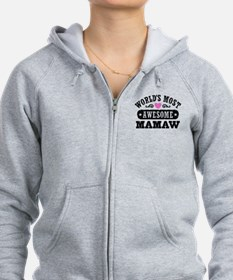 World's Most Awesome MaMaw Zip Hoodie