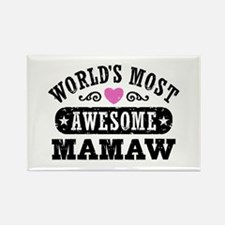 World's Most Awesome MaMaw Rectangle Magnet