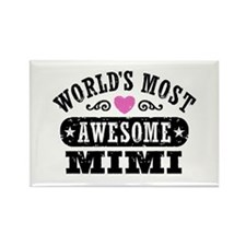 World's Most Awesome Mimi Rectangle Magnet