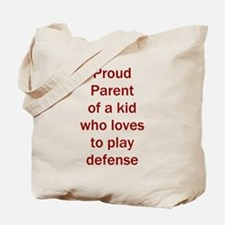 """Proud of kid who loves """"D"""" Tote Bag"""