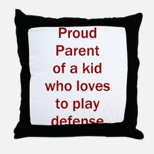 """Proud of kid who loves """"D"""" Throw Pillow"""