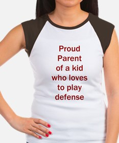 "Proud of kid who loves ""D"" Women's Cap Sleeve T-Sh"