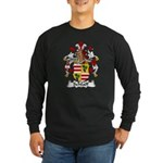 Schlaff Family Crest Long Sleeve Dark T-Shirt