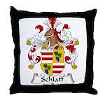 Schlaff Family Crest Throw Pillow