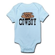 100% Cowboy Infant Bodysuit