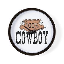 100% Cowboy Wall Clock