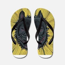 French Bulldog Sunflower Flip Flops