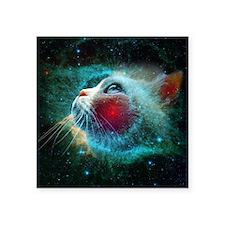 """space cat Square Sticker 3"""" x 3"""""""