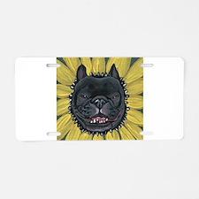 French Bulldog Sunflower Aluminum License Plate