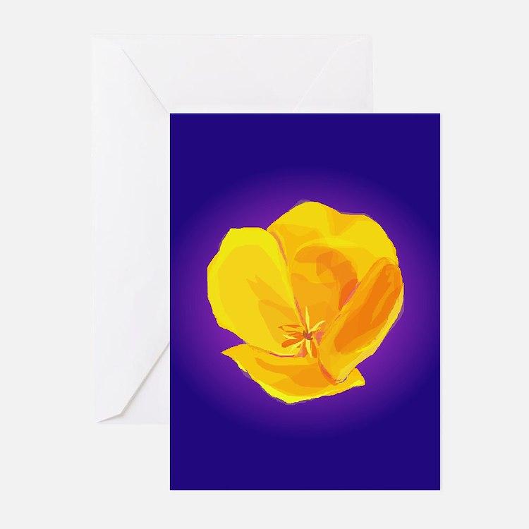 Yellow Poppy Greeting Cards