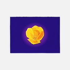 Yellow Poppy 5'x7'Area Rug