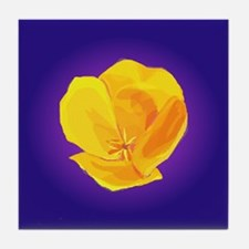 Yellow Poppy Tile Coaster