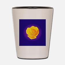 Yellow Poppy Shot Glass
