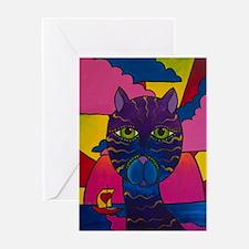 Hip Cat Greeting Card