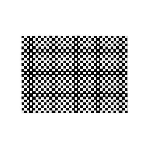 Optical illusion checkerboard 5 39 x7 39 area rug by admin cp2096987 - Checkerboard area rug ...