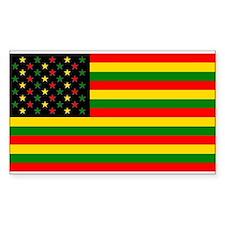 Rasta Stars n Stripes Decal