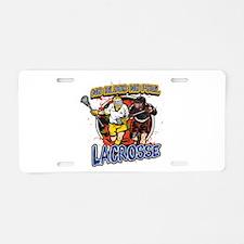 No Blood, No Foul Lacrosse Aluminum License Plate