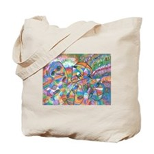 Mixed Color Faces Tote Bag