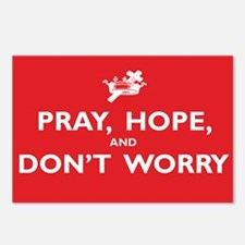 Pray, Hope, and Dont Worr Postcards (Package of 8)