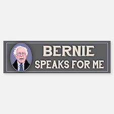 Bernie Speaks II Bumper Bumper Sticker