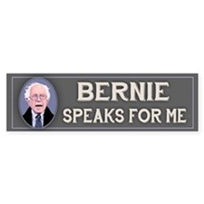 Bernie Speaks II Bumper Sticker