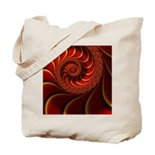 Red Gold Beautiful Fractal Art Tote Bag
