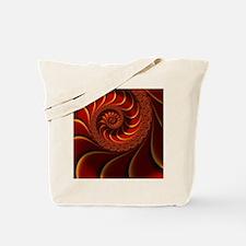 Red Gold Beautiful Fractal Art Tote Bag