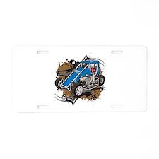Midget Racing Aluminum License Plate