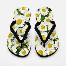 white daises Flip Flops