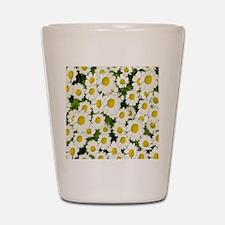 white daises Shot Glass