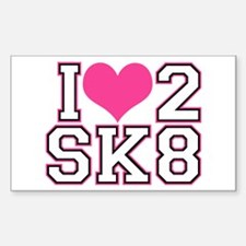 Love to Skate (Pink & Black) Decal