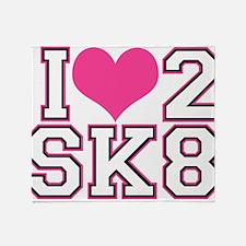 Love to Skate (Pink & Black) Throw Blanket