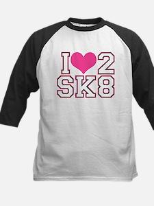 Love to Skate (Pink & Black) Baseball Jersey