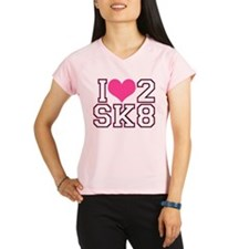 Love to Skate (Pink & Black) Performance Dry T-Shi