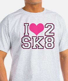 Love to Skate (Pink & Black) T-Shirt
