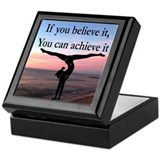 Gymnast Square Keepsake Boxes