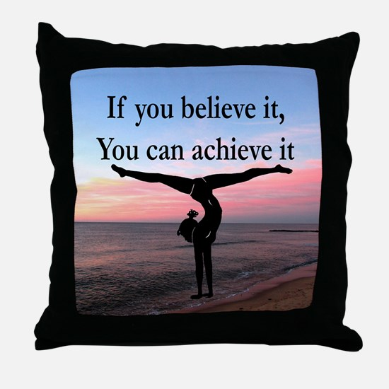 GYMNAST INSPIRATION Throw Pillow