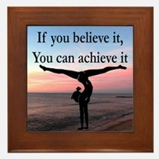 GYMNAST INSPIRATION Framed Tile