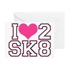 Love to Skate (Pink/Blk) Greeting Card