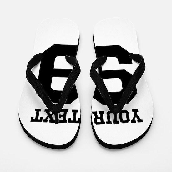 Custom Sports Jersey Number Flip Flops