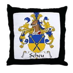 Scheu Family Crest Throw Pillow