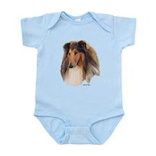 Rough Collie Art Infant Bodysuit