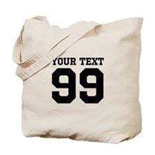 Custom Cute Sports Jersey Number Tote Bag