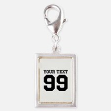 Custom Sports Jersey Number Charms