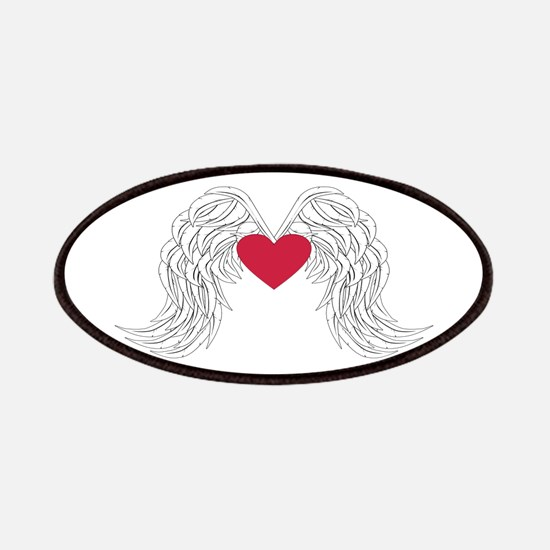 angel wings with heart Patch