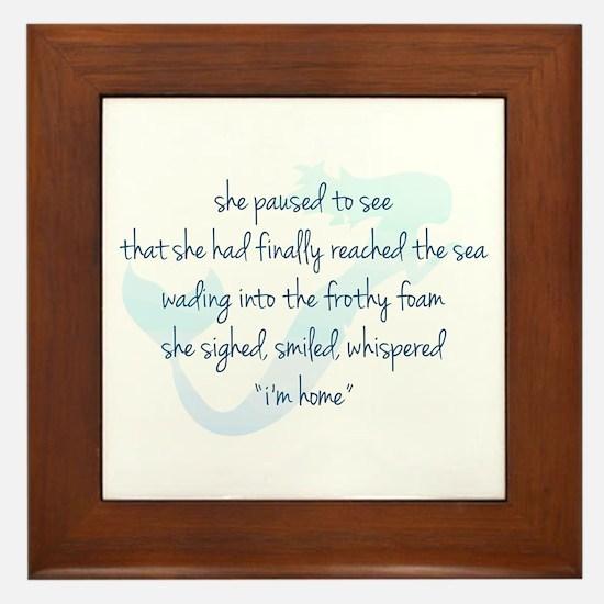 Mermaid Watercolor Framed Tile