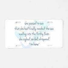 Mermaid Watercolor Aluminum License Plate