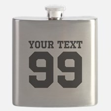Custom Sports Jersey Number Name Flask