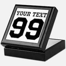 Custom Sports Jersey Number Keepsake Box