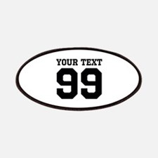 Custom Sports Team Name And Jersey Number Patch